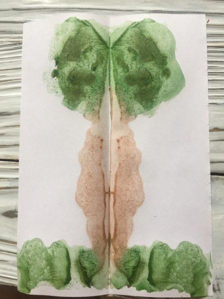 Монотипия «Дерево»