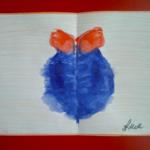 Монотипия «Ёлочный шар»