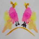 Монотипия «Птички»