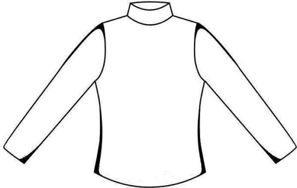 Силуэт свитера с высоким горлом для вырезания