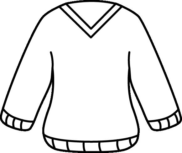 Шаблон свитера с треугольным вырезом и резинкой внизу и на рукавах
