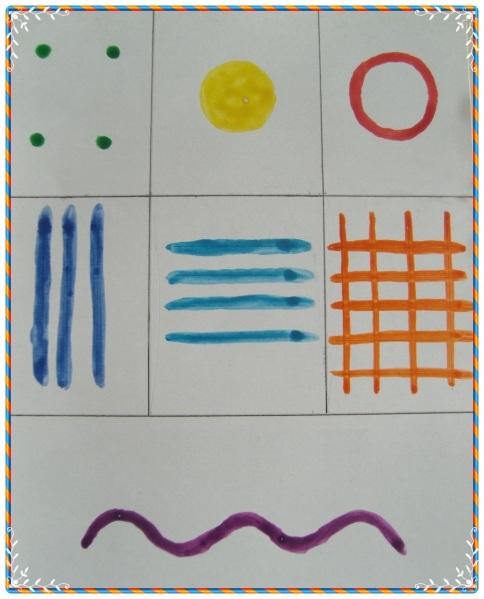 Элементы дымковского узора (образец для дошкольников)