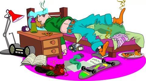 Изображение подростка-лентяя