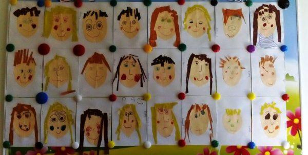 Выставка аппликаций Весёлые портреты