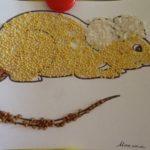 Мышка из круп