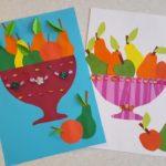 Многослойная, ваза с фруктами