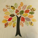Тканевая, дерево с листьями