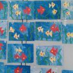 Выставка аппликаций Рыбки в воде