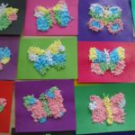 Бабочки из шариков из салфеток