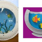 Аквариум из пластиковых тарелок