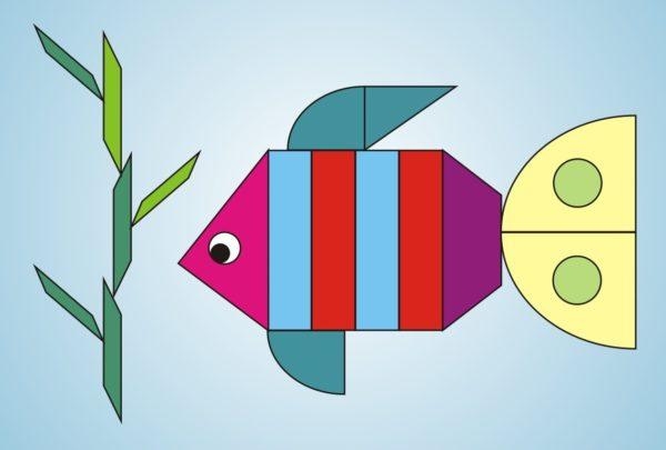 Рыбка из геометрических форм