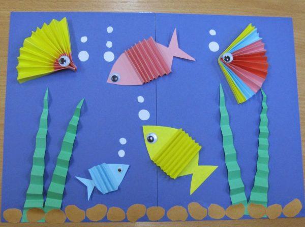 Рыбки в технике «Гармошка»