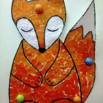 Мозаичная аппликация лисы