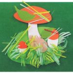 грибы аппликация с бумажной соломкой