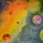 Монотипия «Космос»