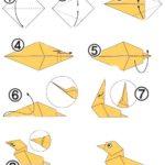Утка в технике оригами