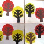 Осенние деревья, симметричная