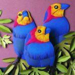 Попугаи, многослойная