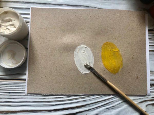 Белое и жёлтое яички