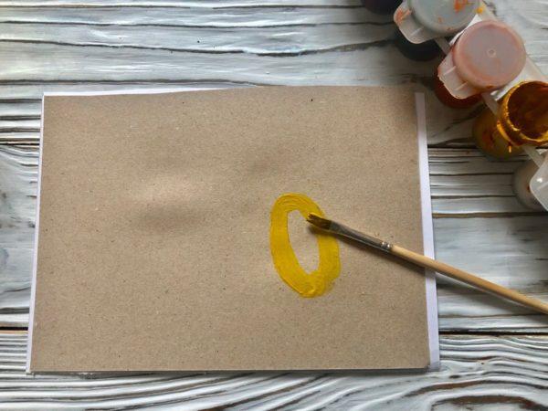 Рисование золотого яичка