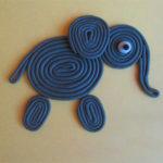 Слон в технике пластилиновый квиллинг