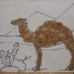 Аппликация «Верблюд в пустыне»