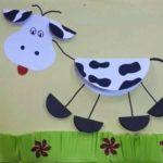 Аппликация коровы