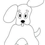 Шаблон для аппликации собачки