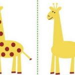 Шаблон для аппликации жирафа