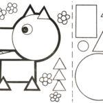 Шаблон для аппликации волка из геометрических фигур