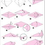 Схема изготовления тюленя в технике оригами