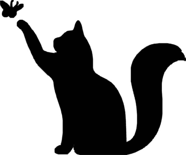 Шаблон кошки для аппликации