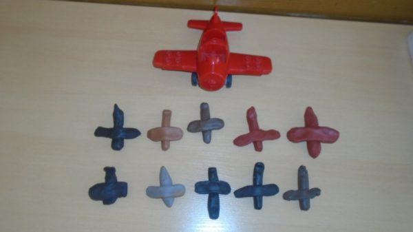 Самолёты из пластилина
