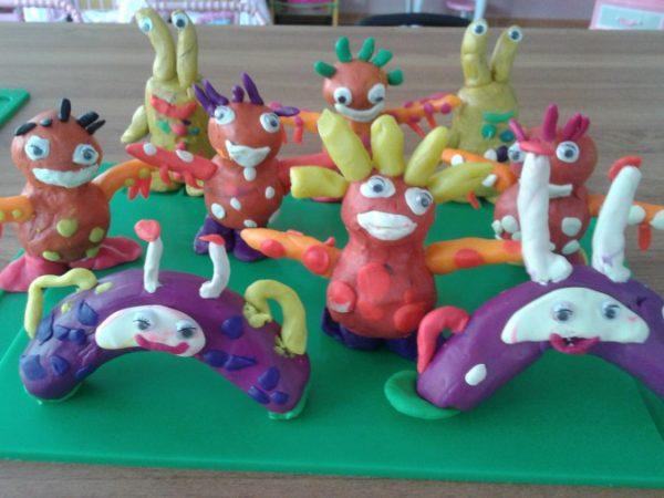 Сказочные персонажи из пластилина