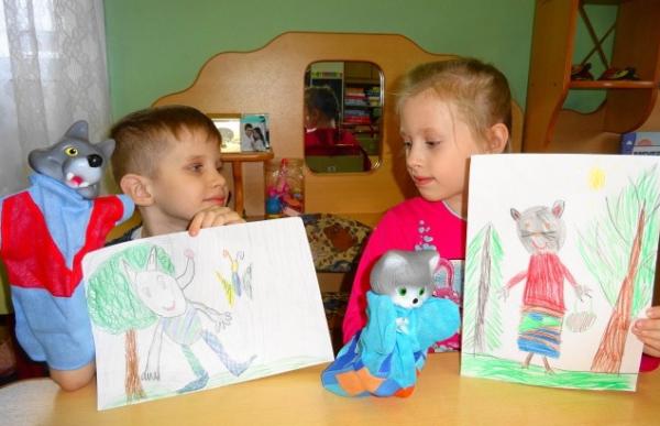 Дети и рисунки «Моя любимая сказка»