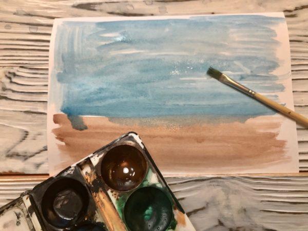 Рисунок Репка: заливка фона