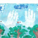 Нетрадиционная техника рисования: Гуси-лебеди