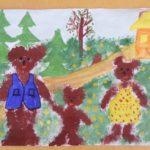 Нетрадиционная техника рисования: Три медведя