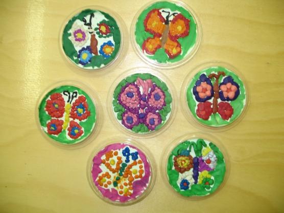 Пластилиновая мозаика в средней группе