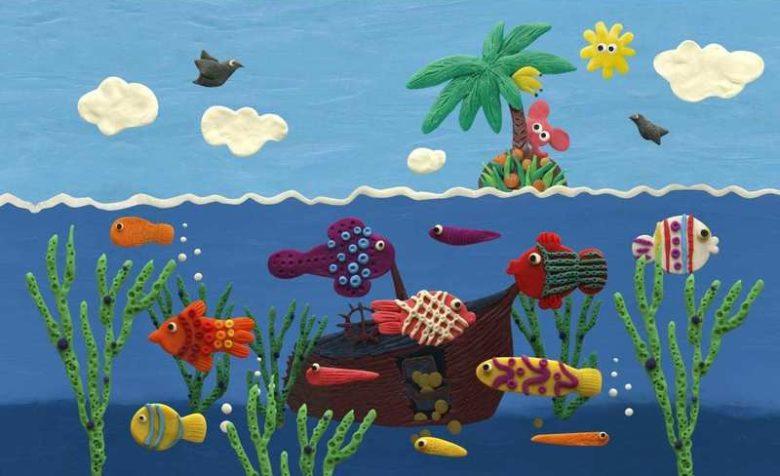 Тема «Рыбки» подходит для обучения различным способам лепки, для индивидуальных и коллективных композиций