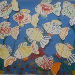 Рыбки ватными палочками
