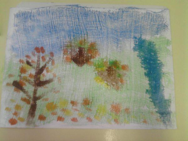Осенний пейзаж через марлю