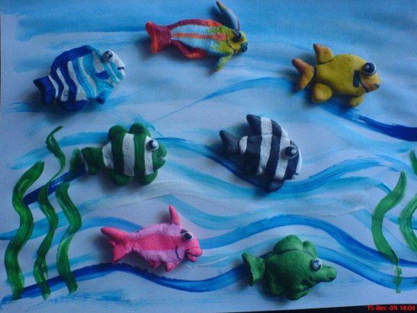 Рыбки на волнах