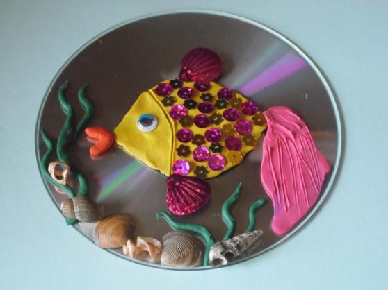 Пластилиновая композиция Рыбка