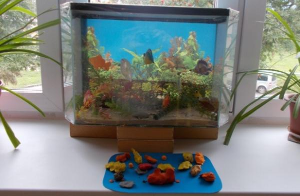 Лепка «Золотая рыбка» в средней группе
