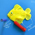 Лепка «Рыбка» на плоскости