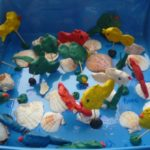 Композиция «Рыбки в аквариуме», средняя группа