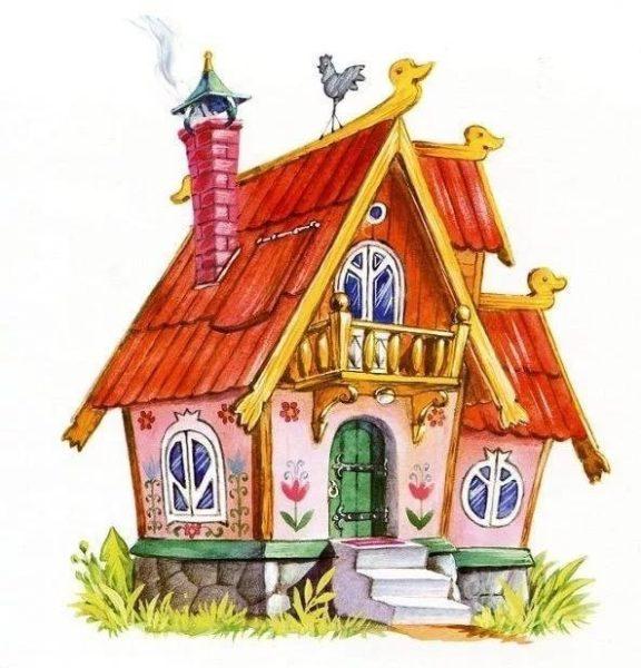 Сказочный домик с трубок