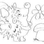 Ёжик с грибами