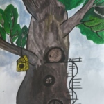 Сказочный домик — дуб зелёный